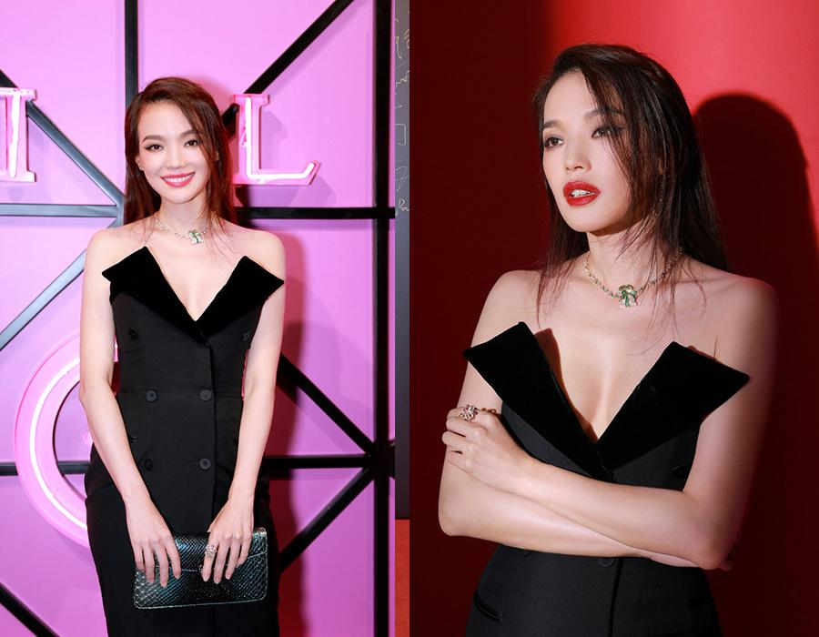 Actress Shu Qi on the red carpet of 2018 Bvlgari New Wild Jewelry Show in Beijing, Nov 8, 2018. [Photo provided to chinadaily.com.cn]