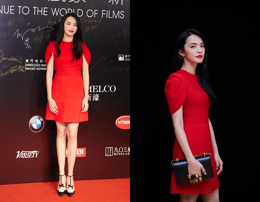 Actress Yao Chen at the red carpet for the 3rd International Film Festival and Awards Macao 2018 on Dec 8. [Photo provided to chinadaily.com.cn]