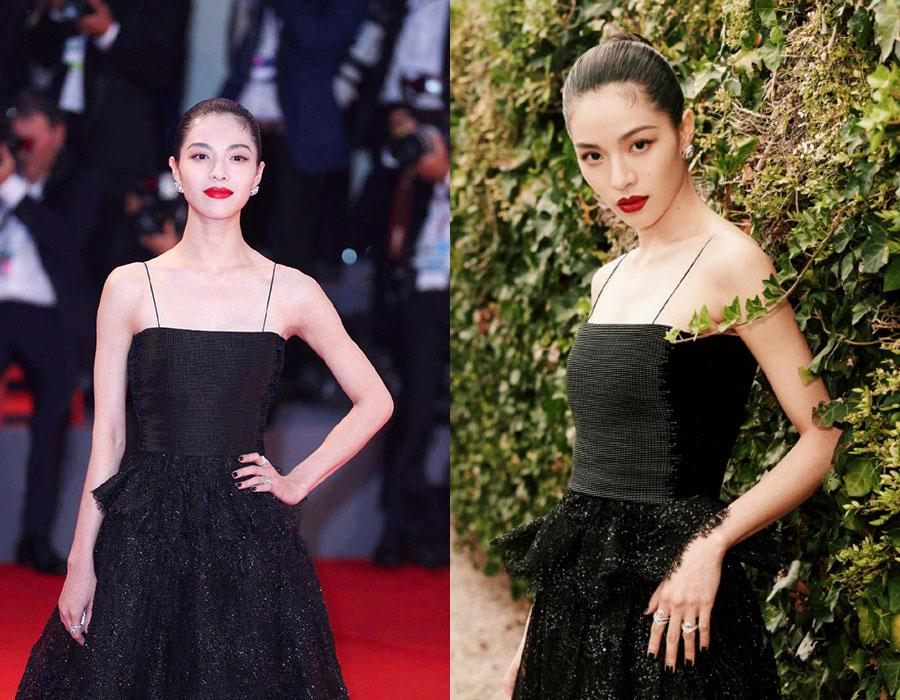 Actress Zhong Chuxi at the red carpet during the 75th Venice Film Festival, in Venice, Italy, on August 31, 2018. [Photo provided to chinadaily.com.cn]