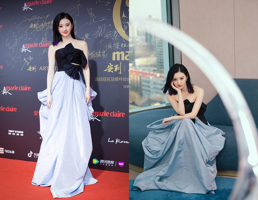 Actress Jing Tian at the red carpet for the 2018 Marie Claire Style China Artistry Party in Beijing, China, Dec 17, 2018. [Photo provided to chinadaily.com.cn]