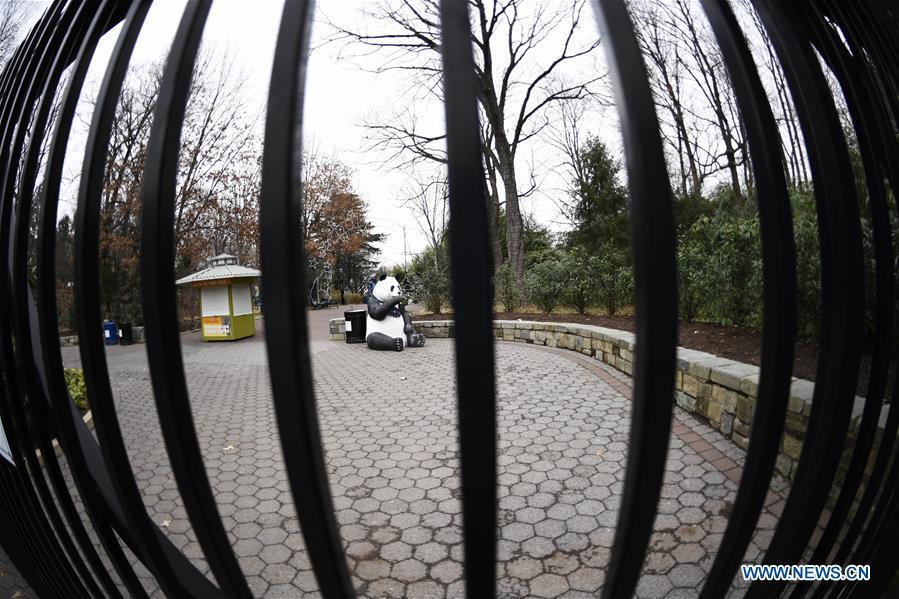 Photo taken on Jan. 2, 2019 shows the gate of the National Zoo in Washington D.C., the United States. The 19 Smithsonian museums and the National Zoo in Washington D.C. closed their doors on Wednesday as the partial U.S. government shutdown dragged on. (Xinhua/Liu Jie)