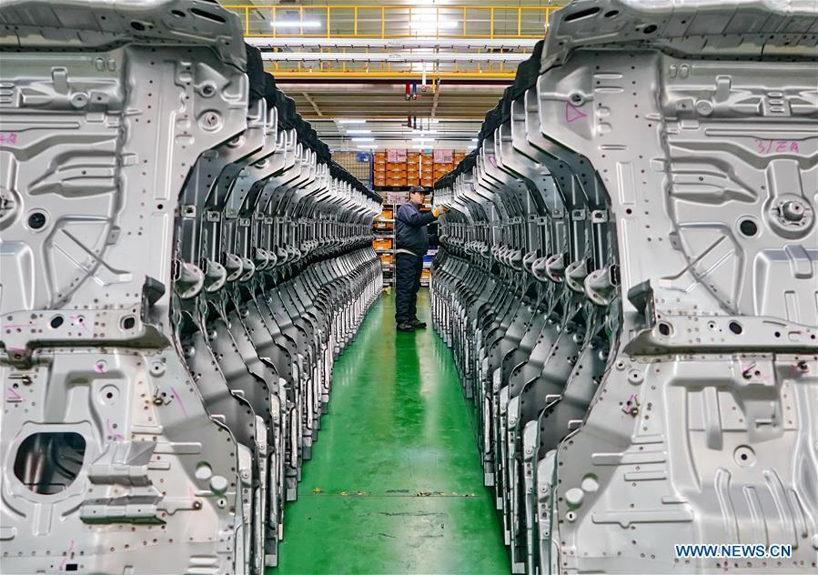 A man works at an auto parts factory in Huanghua City, north China\'s Hebei Province, Nov. 23, 2018. The 18th Central Committee of the Communist Party of China (CPC) held the third plenary session in November, 2013. In the five years since then, China\'s reform momentum had been particularly strong as the CPC decided to advance reform in all aspects during the meeting. Since the third plenary session, Chinese President Xi Jinping has presided over at least 45 high-profile meetings on advancing reforms, during which 400 documents and 1,932 reform plans have been launched. As a result, China\'s reform has been expanded from the economic field to a broad sphere including administrative management, culture, society, ecological conservation, Party building, and the military. (Xinhua/Yang Shiyao)