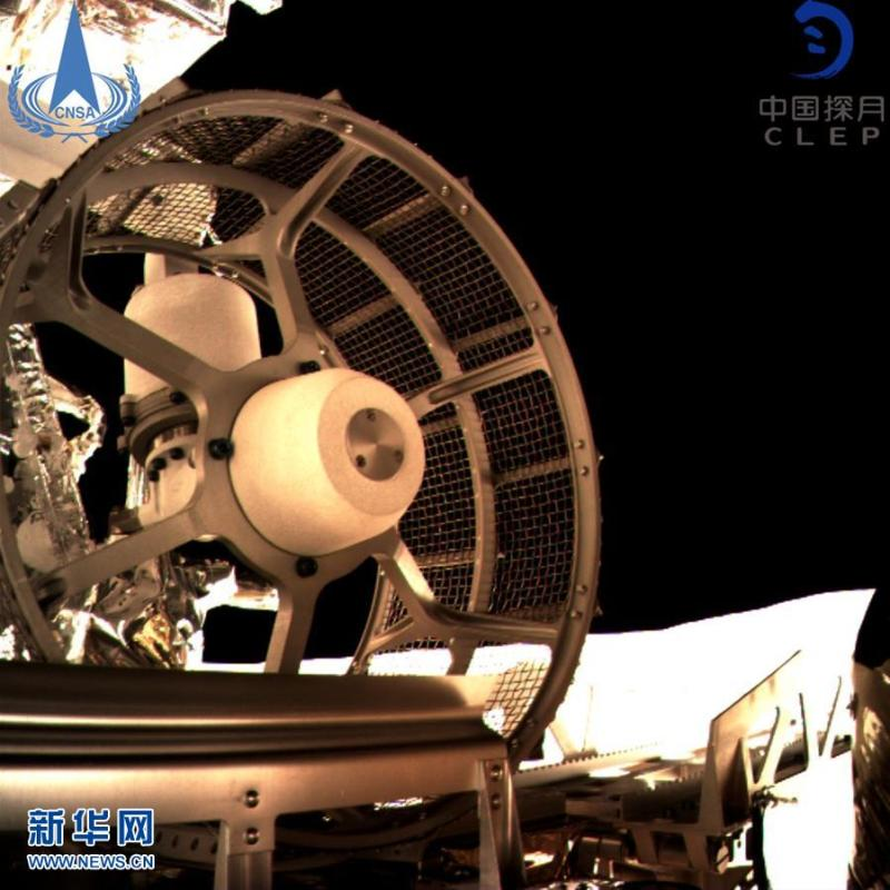 A view of the Chang\'e-4 lunar probe in this image provided by the China National Space Administration, Jan. 3, 2019.  China\'s lunar rover, Yutu-2, or Jade Rabbit-2, left the first ever \