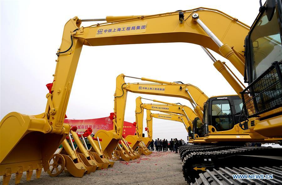 The inter-city railway between Beijing, capital of China, and Xiongan New Area of north China\'s Hebei Province begins to be built in Xiongan New Area on Feb. 28, 2017. China\'s central authorities have approved the 2018-2035 master plan for Xiongan New Area, stressing that its creation is significant to high-quality development and the building of the modern economic system. The plan was approved by the Central Committee of the Communist Party of China (CPC) and the State Council. The master plan is the fundamental guideline for the development, construction and management of the Xiongan New Area and should be strictly implemented, according to the approval released on Wednesday. The plan also lists overall development goals for the new area. By 2035, Xiongan will basically develop into a modern city that is green, intelligent and livable, with relatively strong competitiveness and harmonious human-environment interaction. (Xinhua/Wang Xiao)