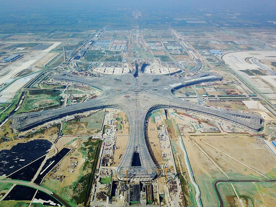 The new Beijing airport, pictured here in September, will open in 2019. (Photo/Xinhua)