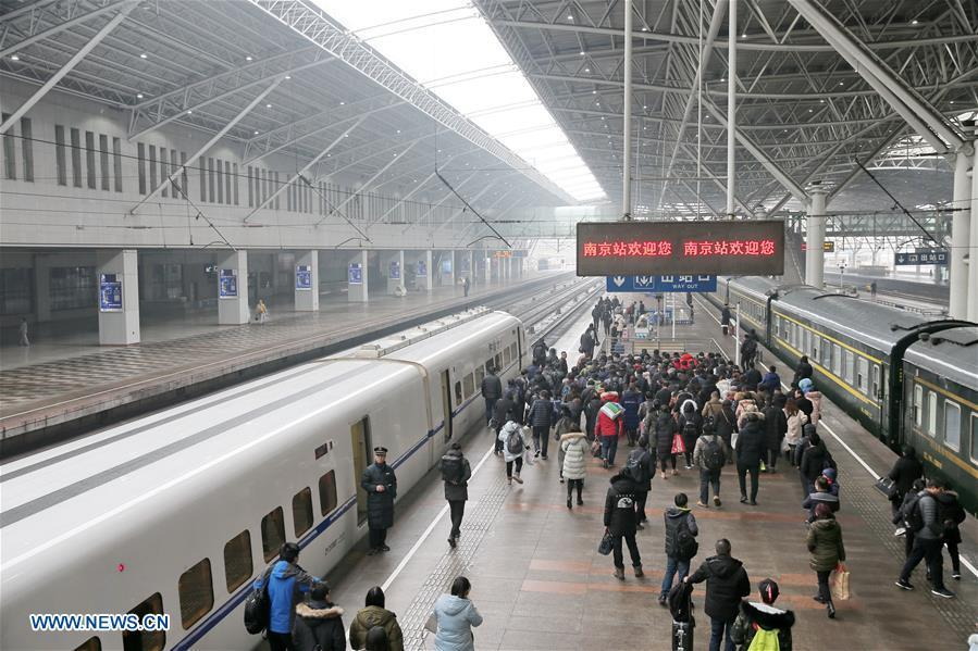 <?php echo strip_tags(addslashes(Passengers exit the Nanjing Railway Station in Nanjing, capital of east China's Jiangsu Province, Jan. 4, 2019. China will put into use the new train diagram starting from Jan. 5.(Xinhua/Xu Congjun))) ?>