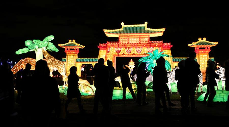 People visit the first Winter Lantern Festival in New York on Dec. 29, 2018. The month long festival was held at the Snug Harbor Cultural Center & Botanical Garden in Staten Island from Nov. 28 to Jan. 6, attracting more than 150,000 people to visit. (Photo/Chinaculture.org)