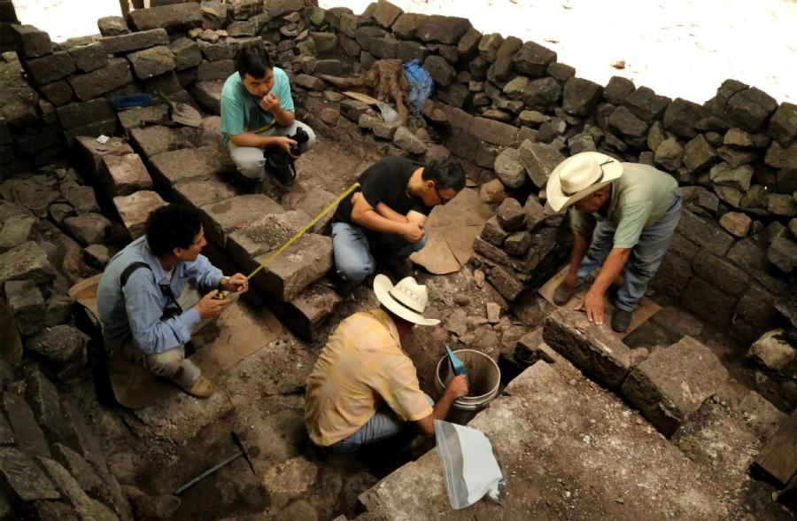 Chinese archaeologists have worked at Copan, a site from the Maya civilization in Honduras, since 2015. (Photo/CHINA DAILY)