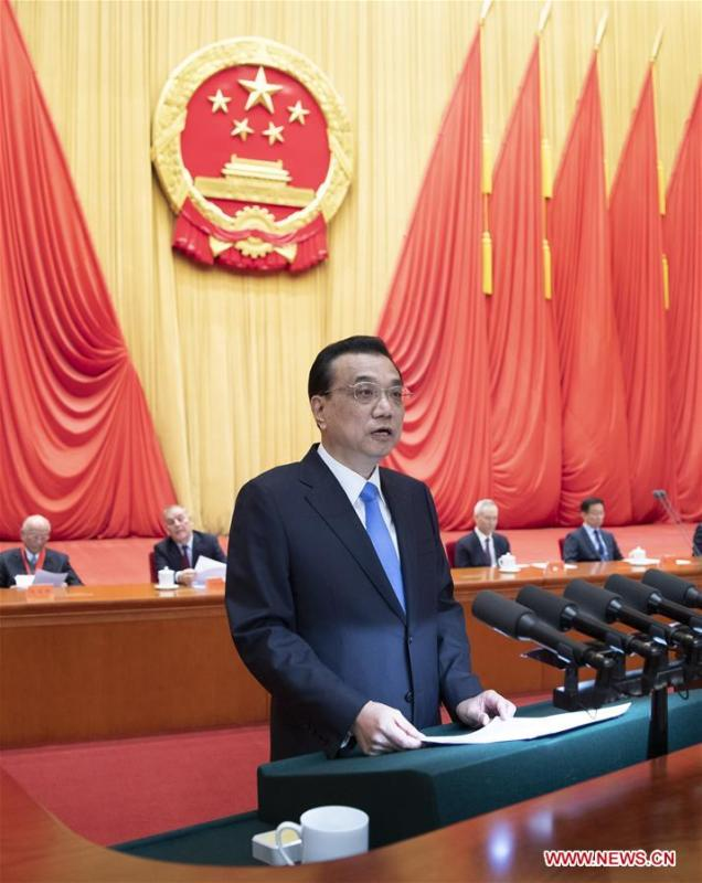 Chinese Premier Li Keqiang, also a member of the Standing Committee of the Political Bureau of the Communist Party of China (CPC) Central Committee, delivers a speech on behalf of the CPC Central Committee and the State Council at an annual ceremony to honor distinguished scientists, engineers, and research achievements in Beijing, capital of China, Jan. 8, 2019. (Xinhua/Xie Huanchi)