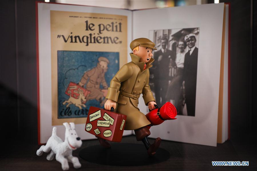 Toy model of Tintin based on the comic series \