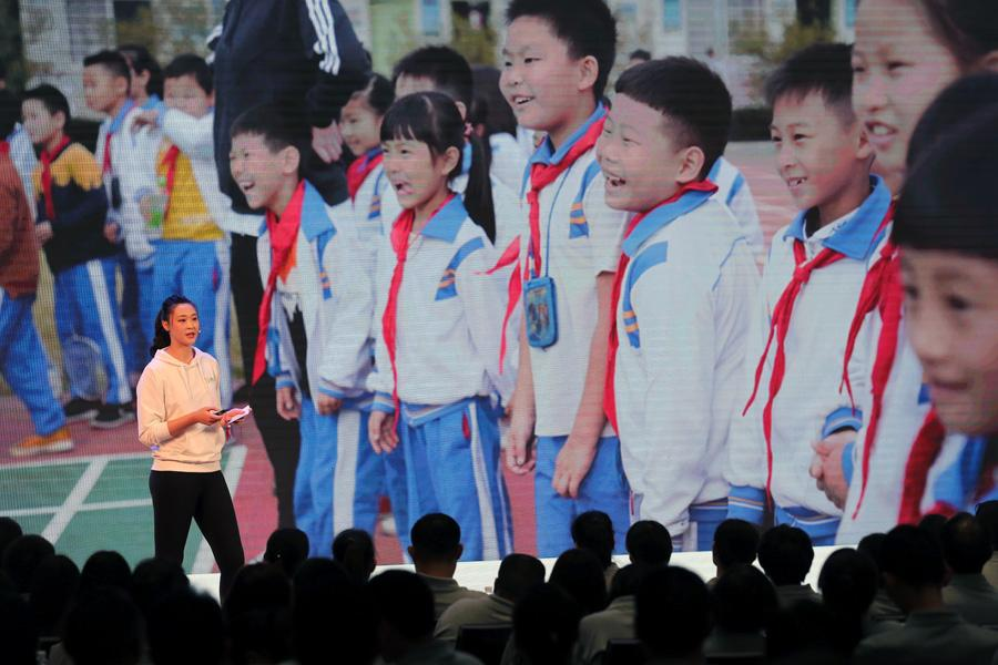 Olympic champion Hui Ruoqi shares her thoughts on the topic, \