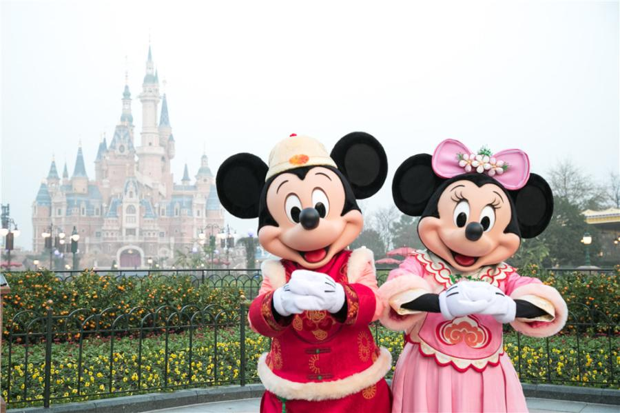 Shanghai Disneyland will celebrate the Year of the Pig with a number of special treatments. (Photo provided to chinadaily.com.cn)