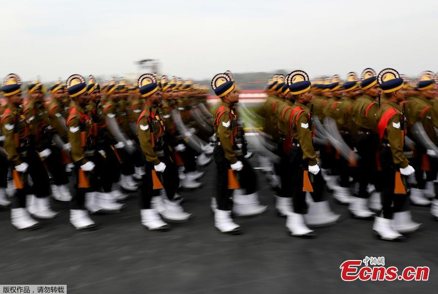 The Army Day parade, at Cariappa Parade Ground on Jan. 15, 2019 in New Delhi, India. The Army Day is celebrated to commemorate the day when Field Marshal M. Cariappa took over as Commander-in-Chief of the Indian Army from General Sir Francis Butcher on Jan. 15, 1949. (Photo/Agencies)