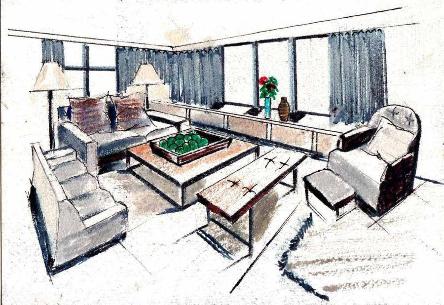 An example of the living alone drawings done by 10th grade students from Changzhou No 2 Middle School. (Photo provided to chinadaily.com.cn)