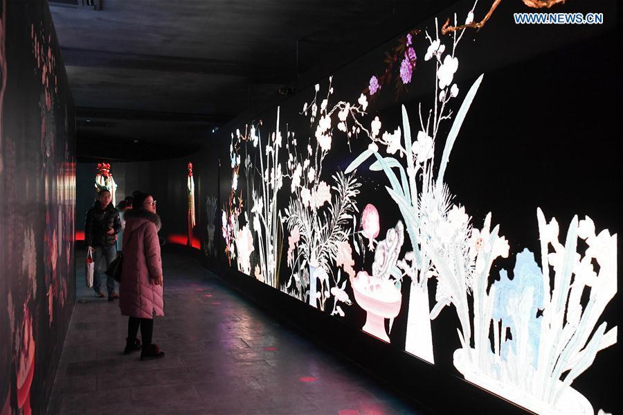 Photo taken on Jan. 21, 2019 shows the scene of the digital immersive experience exhibition to be held at the Palace Museum, also known as the Forbidden City, in Beijing, capital of China. As a part of the exhibition of \