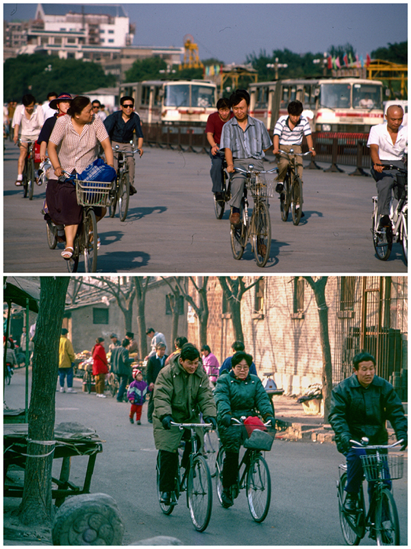 Chang\'an Avenue 1994. Xilou Hutong near Yonghegong 1995  (Photo/chinadaily.com.cn)