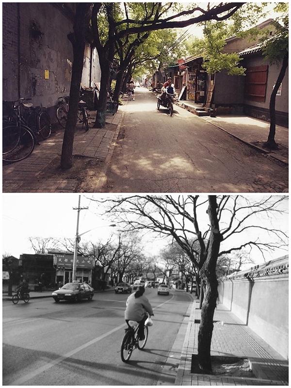 A quiet Shichahai hutong 2000. Gulou Xi Dajie 1998 (Photo/chinadaily.com.cn)