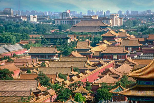 Forbidden City from Jingshan Park hill 1994 (Photo/chinadaily.com.cn)