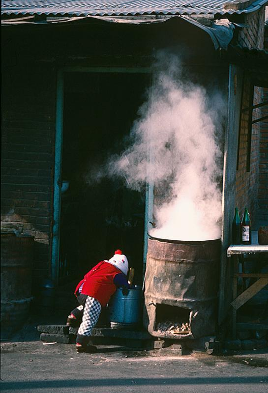 Food steamer at Yindingqiao 1995  (Photo/chinadaily.com.cn)