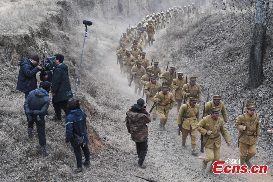 Li Tieliang, 69, works as extra in a TV drama being shot in Beishanyun Village in Yushe County, North China's Shanxi Province, Jan. 24, 2019. The village has more than 30 well-preserved buildings from the Ming and Qing dynasties, making it a good location to shoot historical film and TV dramas. In recent years, many locals have migrated to other places, while some remaining farmers have found work as extras. Li and his wife survive by farming, while their children work in other cities. Li now works part-time as an extra and earns about 100 yuan ($14) a day. (Photo: China News Service/Wu Junjie)