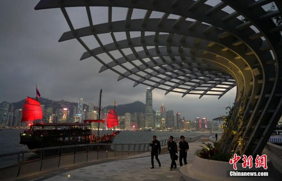 A view of the renovated Avenue of Stars in Hong Kong. The Avenue of Stars, which pays tribute to those who have helped make Hong Kong the \