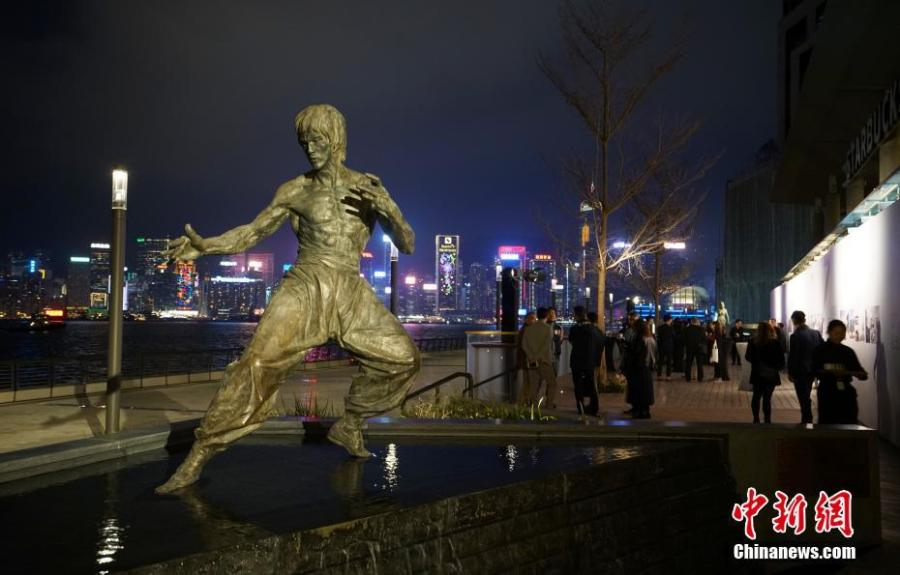 A statue of Bruce Lee is seen on the renovated Avenue of Stars in Hong Kong. The Avenue of Stars, which pays tribute to those who have helped make Hong Kong the \