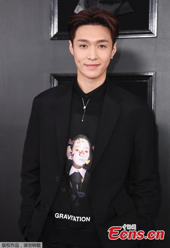 Zhang Yixing, Chinese singer-songwriter, arrives for the 61st Grammy Awards in Los Angeles, California, U.S., Feb. 10, 2019. (Photo/Agencies)