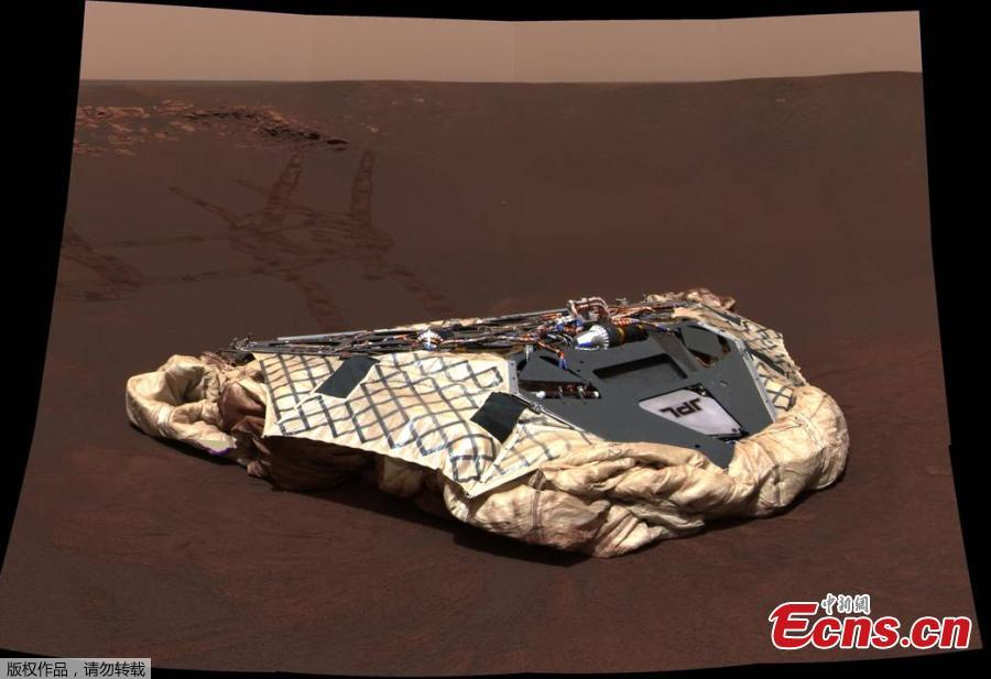 The golf-cart sized Opportunity rover bounded onto the surface of Mars on Jan. 24, 2004. (Photo/VCG)