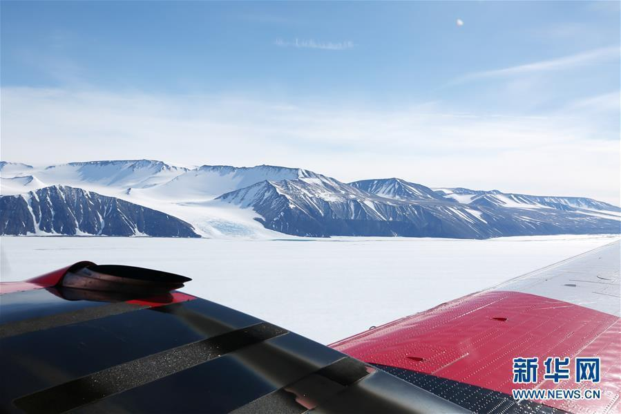 Photo taken on Jan. 24, 2019 shows Snow Eagle 601, conducted large-scale air-borne radar, gravity and magnetic observations at the Amery Ice Shelf. (Photo/Xinhua)