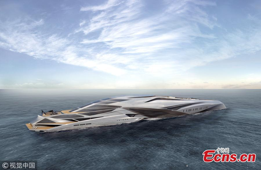 A look at the design plans for 751-Foot Superyacht Valkyrie. (Photo/VCG)
