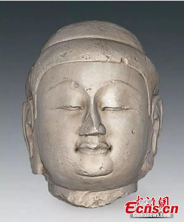 A Buddha statue in Xizhou City, Shanxi Province is seen in this photo provided by the Shanxi Provincial Institute of Archaeology on Feb. 20, 2019. The institute said a total of 34 Buddha statues, made in the period from the Northern Wei Dynasty (386-534) to the Tang Dynasty (1368-1644), have been found during six years of excavation work. Archeologists said the statues were possibly buried during the Tang Dynasty, when there was a crackdown on Buddhism. (Photo provided to China News Service)