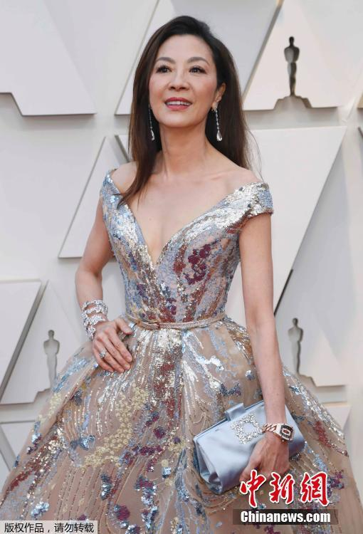 Actress Michelle Yeoh arrives for the 91st annual Academy Awards ceremony at the Dolby Theatre in Hollywood, California, United States, Feb. 24, 2019. (Photo/Agencies)