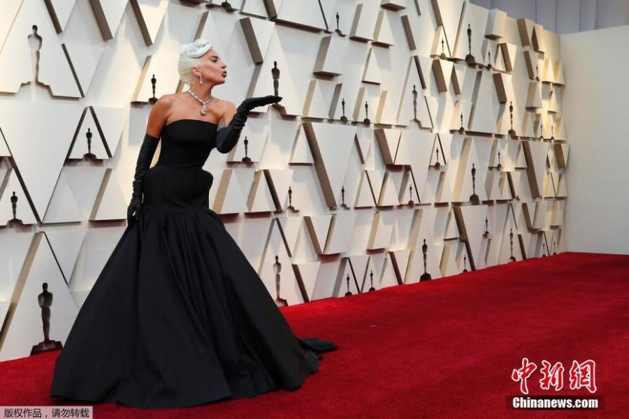 Singer and actress Lady Gaga arrives for the 91st annual Academy Awards ceremony at the Dolby Theatre in Hollywood, California, United States, Feb. 24, 2019. (Photo/Agencies)