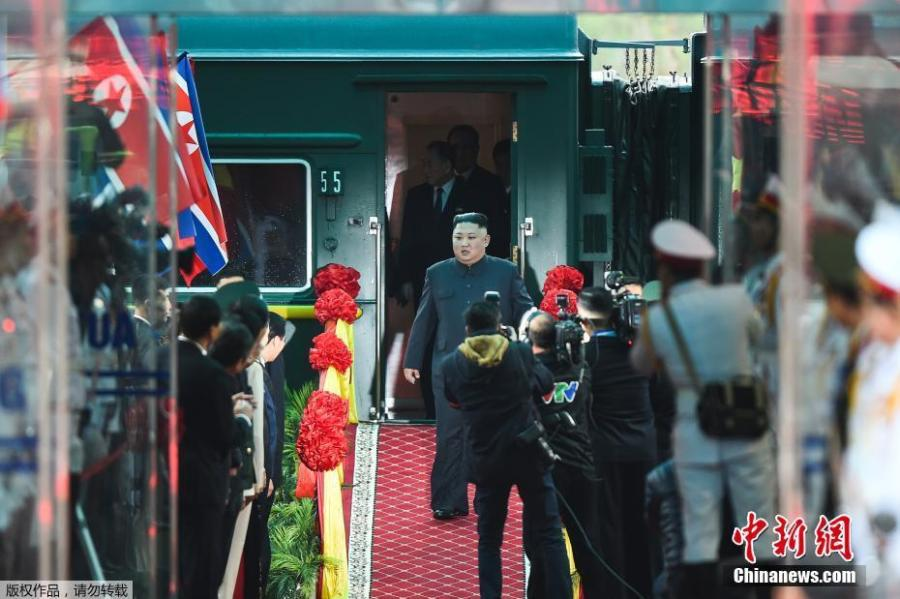 <?php echo strip_tags(addslashes(DPRK's top leader Kim Jong-un arrives at the Dong Dang railway station, Vietnam, at the border with China, Feb. 26, 2019. (Photo/Agencies))) ?>