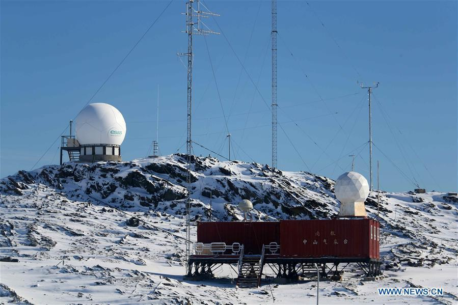 Photo taken on Feb. 9, 2019 shows a meteorological station of the Zhongshan Station, a Chinese research base in Antarctica. Over the past 30 years, the Zhongshan Station has grown into a modern \