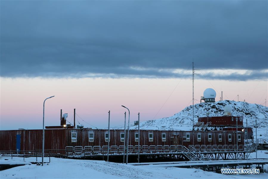 Photo taken on Feb. 9, 2019 shows a main building of the Zhongshan Station, a Chinese research base in Antarctica. Over the past 30 years, the Zhongshan Station has grown into a modern \