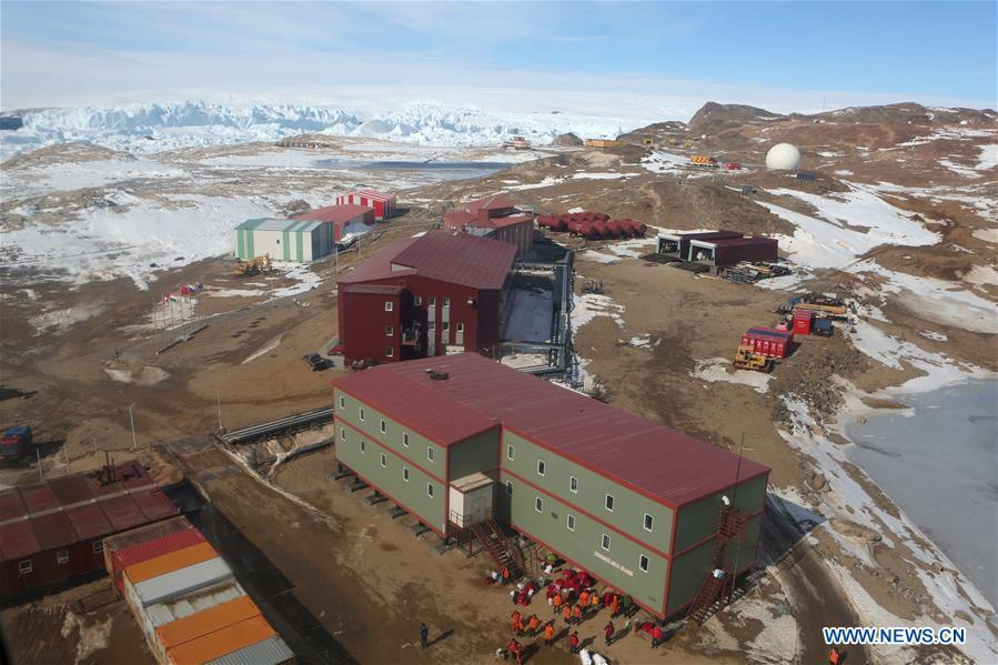 Photo taken on Feb. 11, 2019 shows a view of Zhongshan Station, a Chinese research base in Antarctica. Over the past 30 years, the Zhongshan Station has grown into a modern \