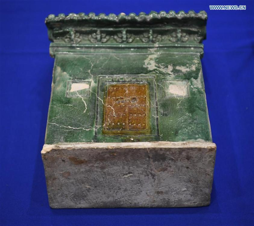Photo taken on Feb. 28, 2019 shows a relic during a repatriation event held in the Eiteljorg Museum of Indianapolis, capital city of state of Indiana, the United States. The United States announced the repatriation of 361 pieces of Chinese relics and artifacts to China at a ceremony on Thursday. (Xinhua/Liu Jie)