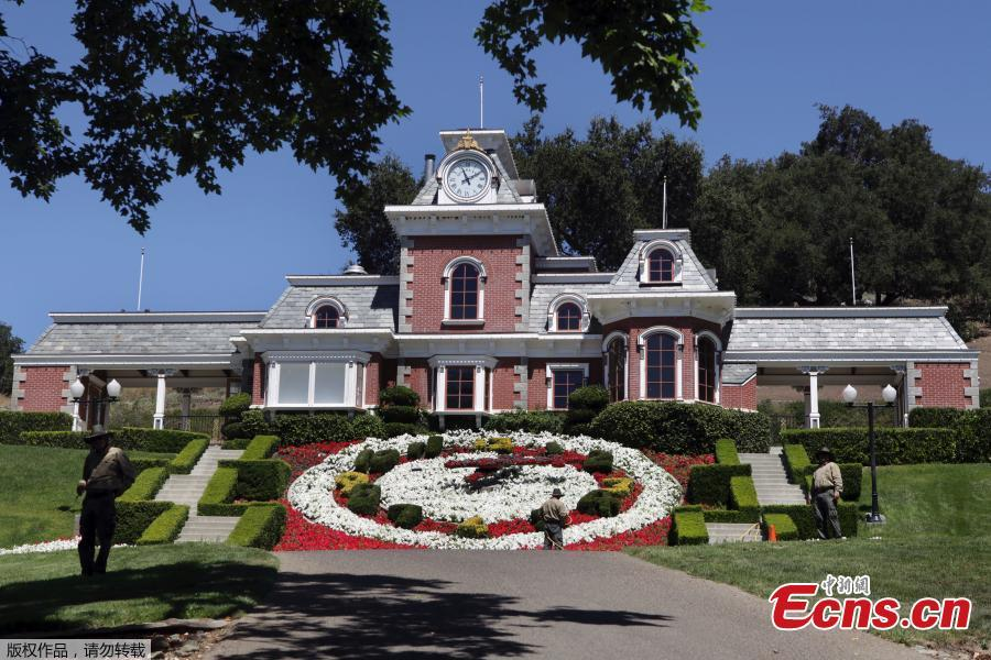 File photo of the former residence of late pop star Michael Jackson (1958-2009). Known as the Neverland ranch, the iconic property is on the market for a cool $31 million, down from its original asking price of $100 million in 2015, when the famous property was first listed. (Photo/Agencies)