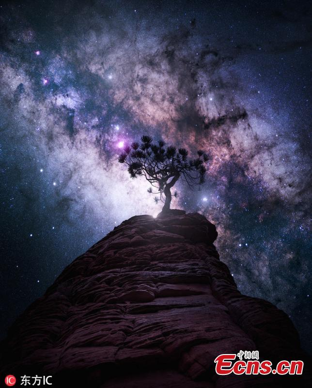 Landscape photographer Daniel Greenwood of Vancouver, Canada is known for making creative pictures that connect many natural elements together. (Photo/IC)