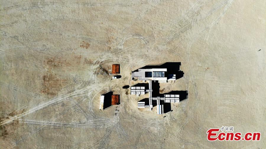 An aerial view of Mars Camp, China\'s first Mars simulation base, which opened with a launch ceremony on March 1, 2019. (Photo: China News Service/Sun Rui)