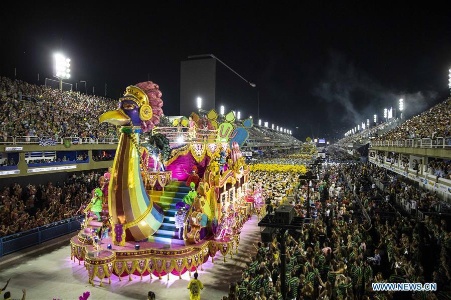 Revellers of the samba school \