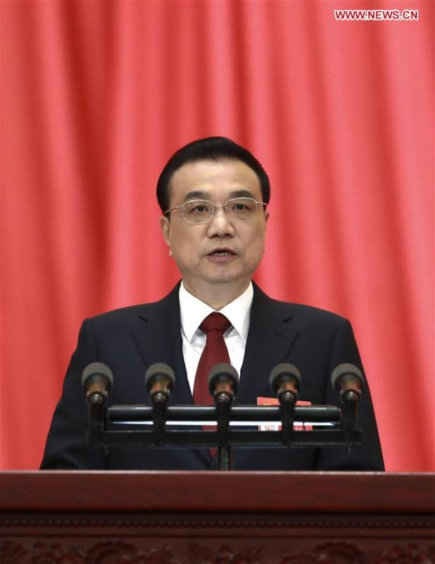 Chinese Premier Li Keqiang delivers a government work report at the opening meeting of the second session of the 13th National People\'s Congress at the Great Hall of the People in Beijing, capital of China, March 5, 2019. (Xinhua/Pang Xinglei)