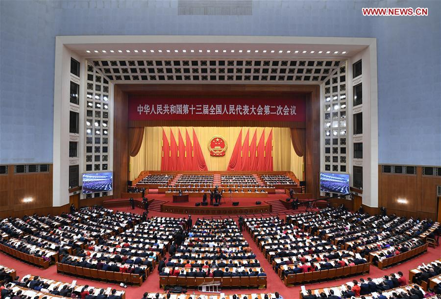 The second session of the 13th National People\'s Congress opens at the Great Hall of the People in Beijing, capital of China, March 5, 2019. (Xinhua/Zhang Ling)