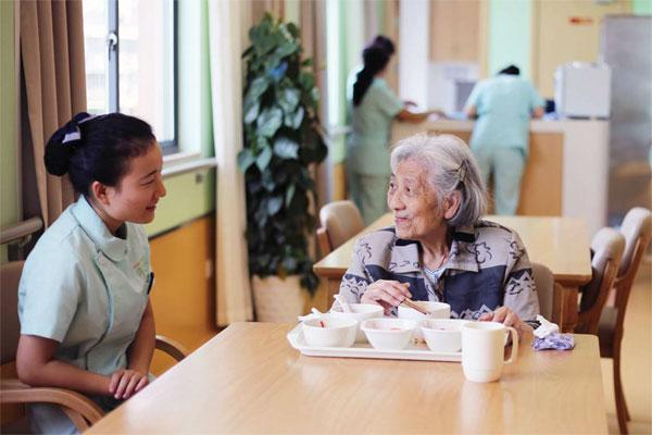 An undated photo shows an elderly woman dining at a nursing home in Hangzhou. (Photo Provided to China Daily) Key points:  -- Central government spending on education will exceed one trillion yuan.  -- Raise the reimbursement rate from 50 to 60 percent.  -- Make sure we are ready for the 2020 Olympic and Paralympic Games, undertake detailed planning and preparatory work for the 2022 Winter Olympics and Paralympics in Beijing, and host a successful Seventh World Military Games.  -- Intensify the special campaign to root out organized crime and local mafia.