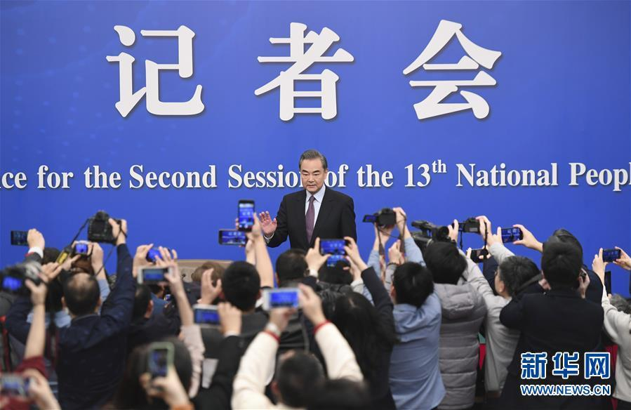 Chinese State Councilor and Foreign Minister Wang Yi attends a press conference on China\'s foreign policy and relations on the sidelines of the second session of the 13th National People\'s Congress in Beijing, capital of China, March 8, 2019. (Photo/Xinhua)