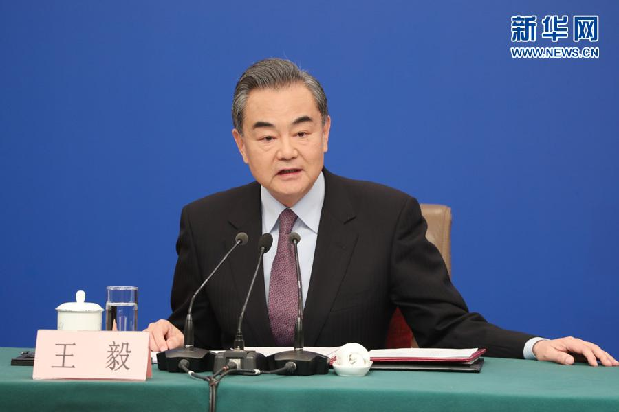 Chinese State Councilor and Foreign Minister Wang Yi speaks at a press conference on China\'s foreign policy and relations on the sidelines of the second session of the 13th National People\'s Congress in Beijing, capital of China, March 8, 2019. (Photo/Xinhua)
