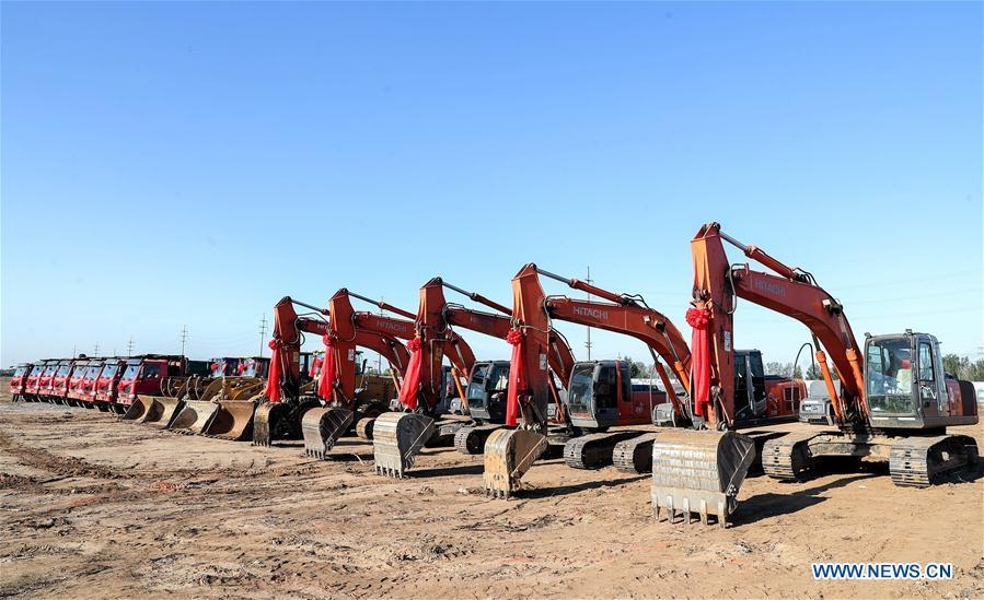 Photo taken on Oct. 11, 2018 shows the construction site of the new BMW Brilliance Tiexi New Plant in Shenyang, northeast China\'s Liaoning Province. (Xinhua)
