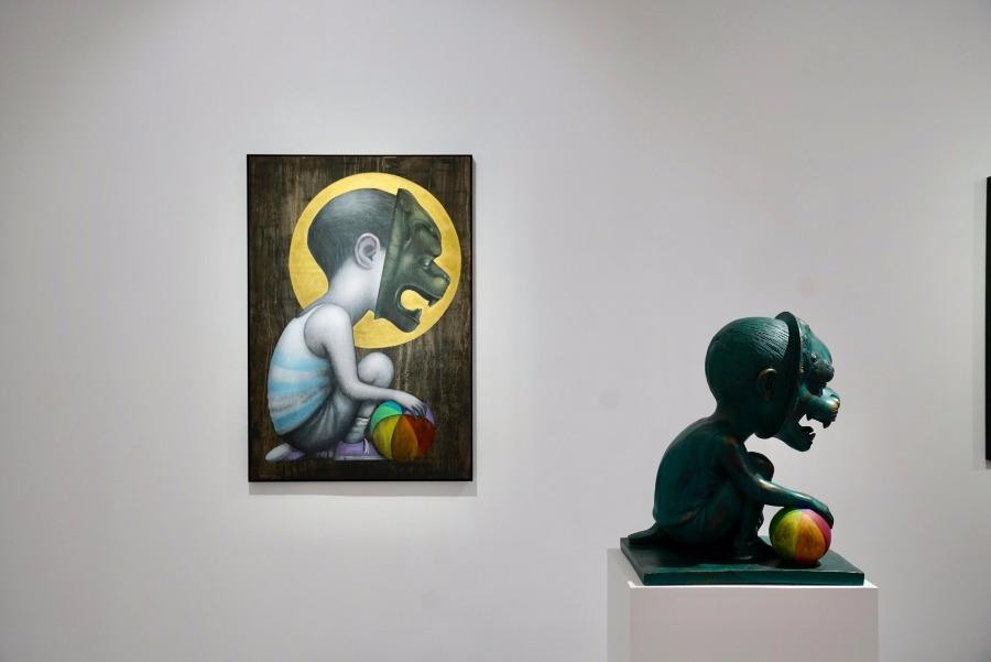 A l\'écolebuissonnière, an exhibition of street art by French artist Julien Malland, opened at M Art Center in Shanghai on March 9. (Photo/chinadaily.com.cn)
