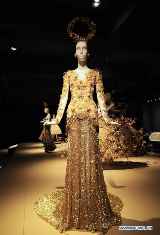 Photo taken on March 7, 2019 shows a creation of Chinese couturier Guo Pei at her \